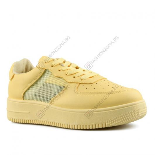 Жълти дамски ежедневни обувки Avalon