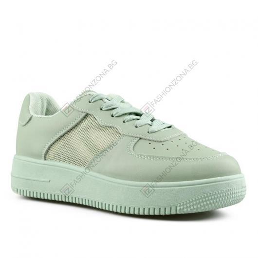 Зелени дамски ежедневни обувки Naida