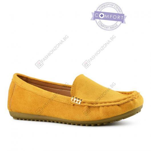 Жълти дамски ежедневни обувки Gilda