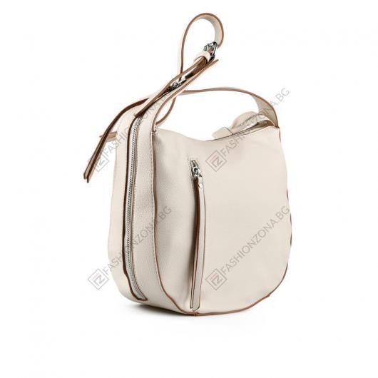 Бежова дамска ежедневна чанта Beatrycze