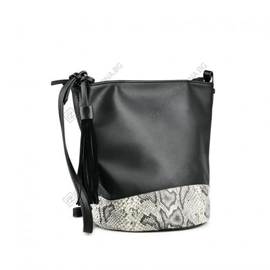 Черна дамска ежедневна чанта Hildur