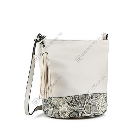 Бежова дамска ежедневна чанта Maile