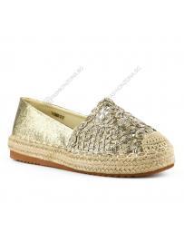 Златисти дамски ежедневни обувки Ravit