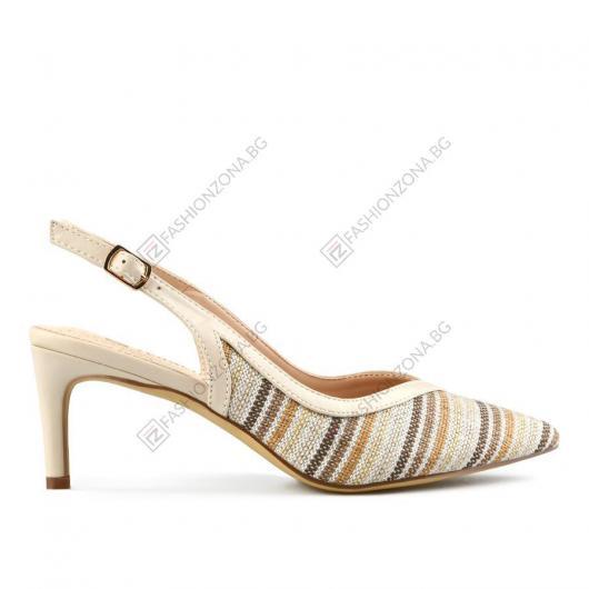 Бежови дамски елегантни сандали Lale