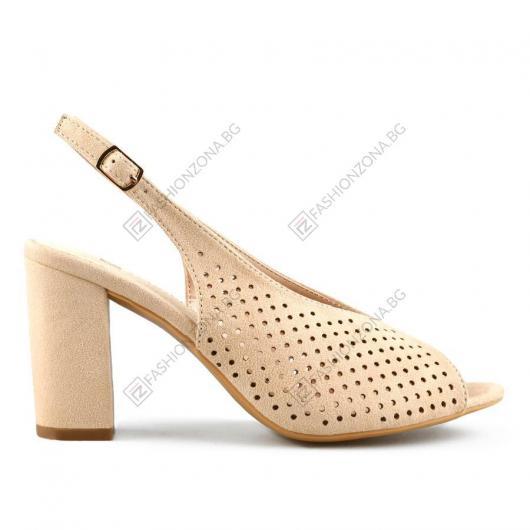 Бежови дамски елегантни сандали Sedona