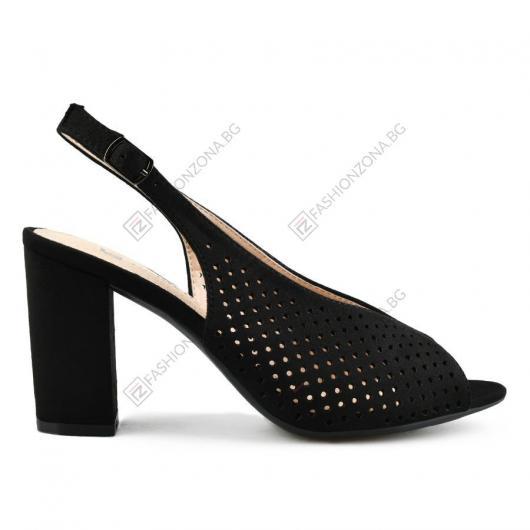 Черни дамски елегантни сандали Greet