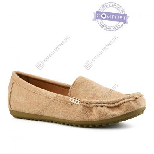 Бежови дамски ежедневни обувки Aretha