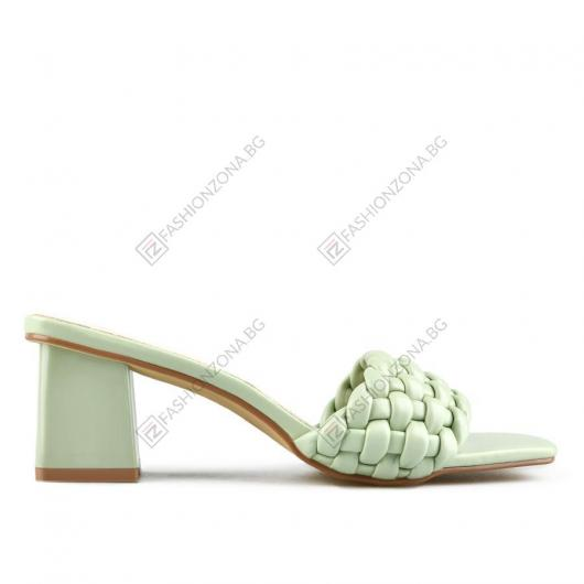 Зелени дамски елегантни чехли Yasamin