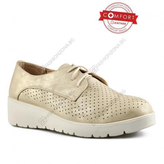 Бежови дамски ежедневни обувки Noya