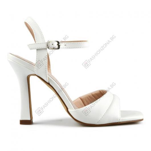 Бели дамски елегантни сандали Ova