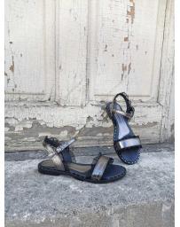 Сребристи дамски ежедневни сандали Sidony