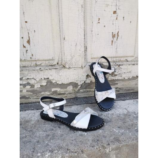 Бели дамски ежедневни сандали Marybeth