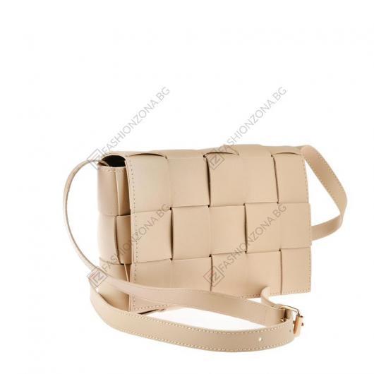 Бежова дамска ежедневна чанта Ailsa