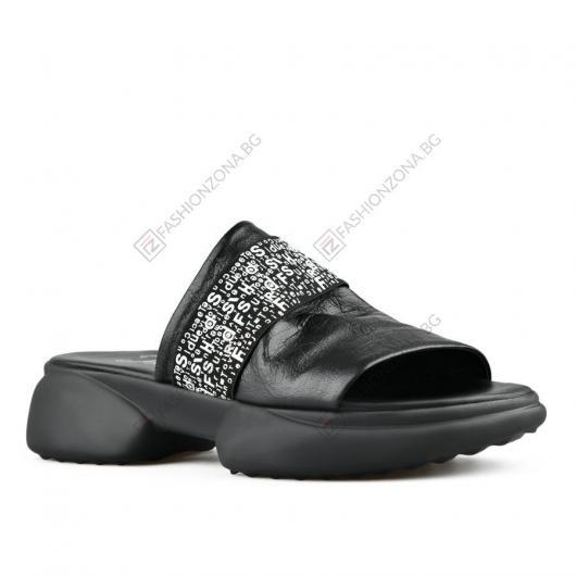 Черни дамски ежедневни чехли Pauletta