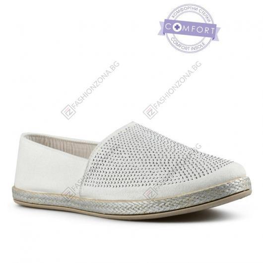 Бели дамски ежедневни обувки Kalea