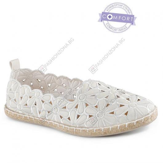 Бели дамски ежедневни обувки Topaz