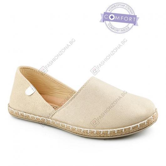 Бежови дамски ежедневни обувки Kamaria