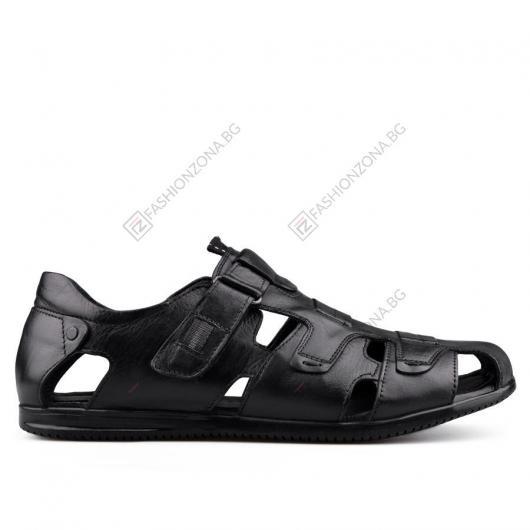Черни мъжки сандали Baccio