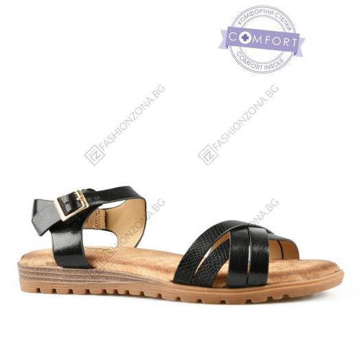 Черни дамски ежедневни сандали Fenella