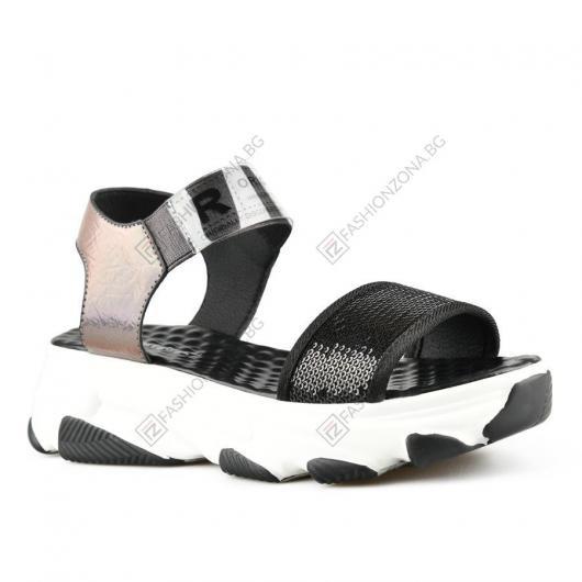 Черни дамски ежедневни сандали Electa