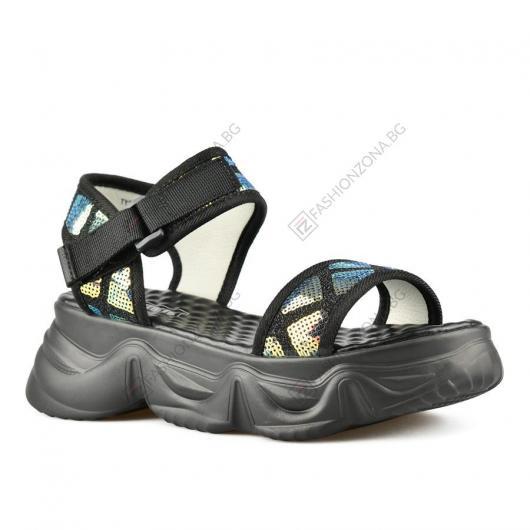 Черни дамски ежедневни сандали Reilly