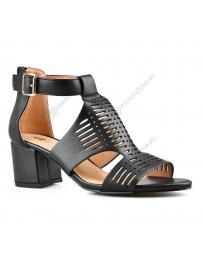 Черни дамски елегантни сандали Sung