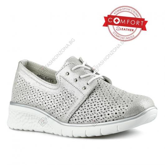 Сребристи дамски ежедневни обувки Sevda