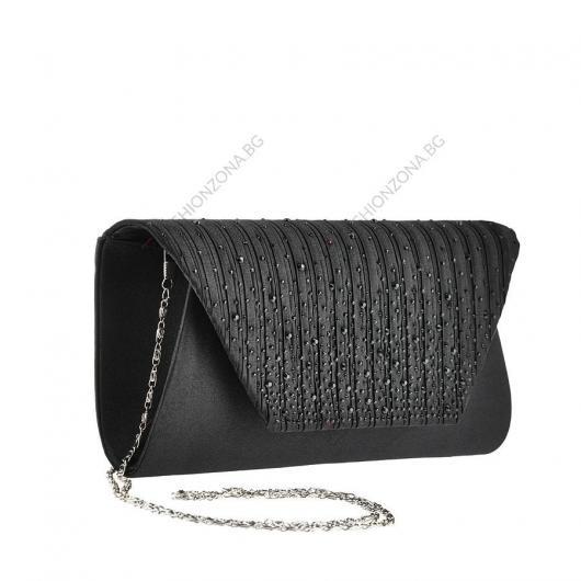 Черна дамска елегантна чанта Shania