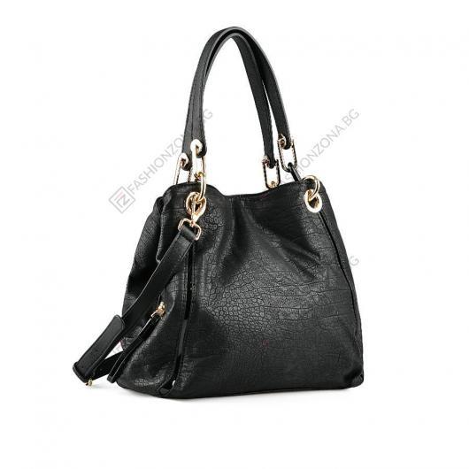 Черна дамска ежедневна чанта Tai