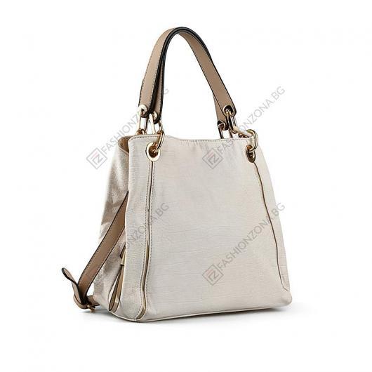 Бежова дамска ежедневна чанта Irenka