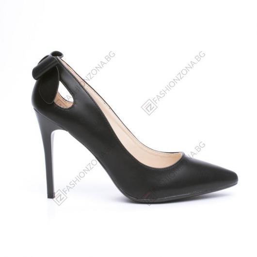 Черни дамски елегатни обувки Katya