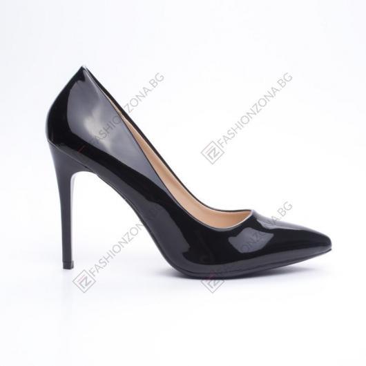Черни дамски елегантни обувки Lisha