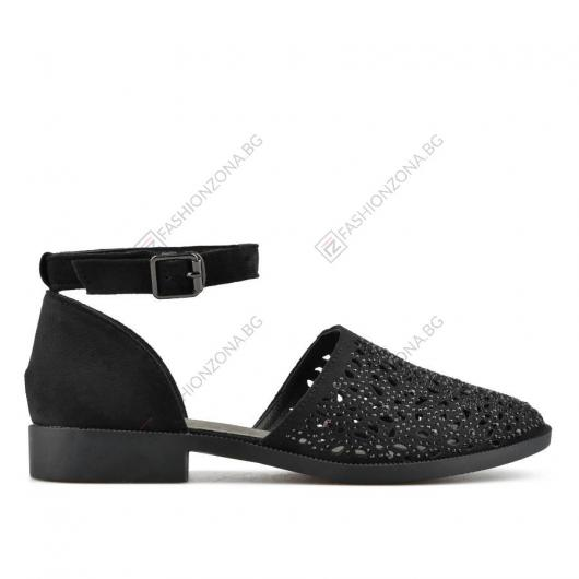 Черни дамски ежедневни сандали Yustina