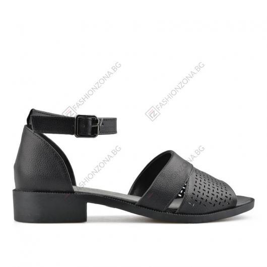 Черни дамски ежедневни сандали Arezoo