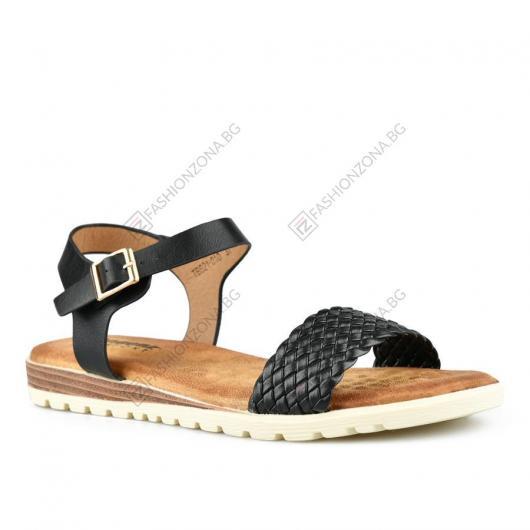 Черни дамски ежедневни сандали Nasira