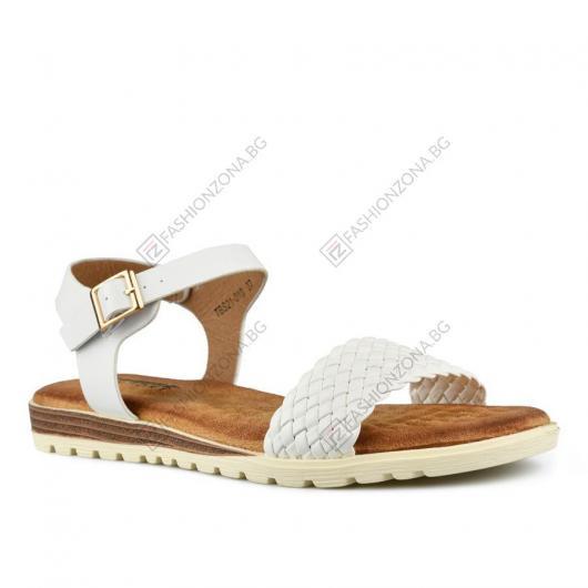 Бели дамски ежедневни сандали Idella