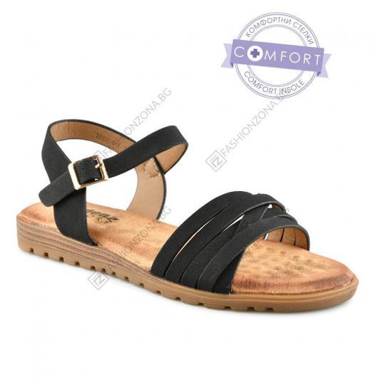 Черни дамски ежедневни сандали Marcelina
