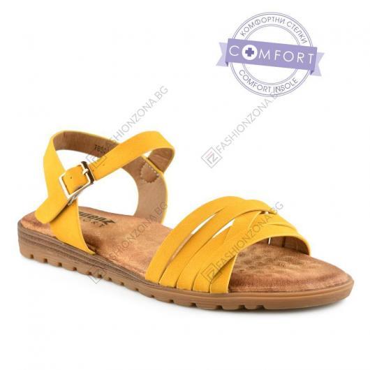 Жълти дамски ежедневни сандали Hila