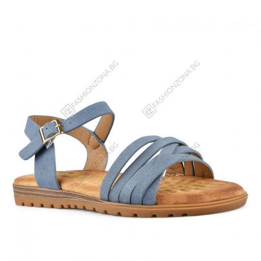 Сини дамски ежедневни сандали Nephthys