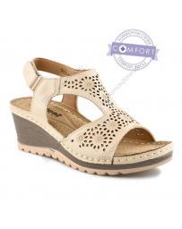 Бежови дамски ежедневни сандали Madlenka