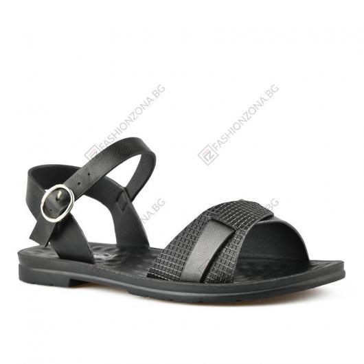 Черни дамски ежедневни сандали Luzia