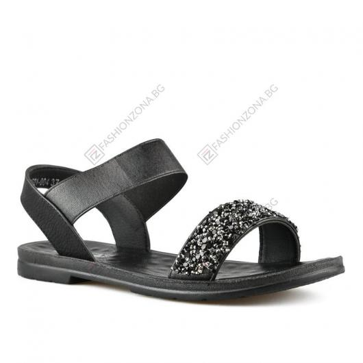 Черни дамски ежедневни сандали Ally