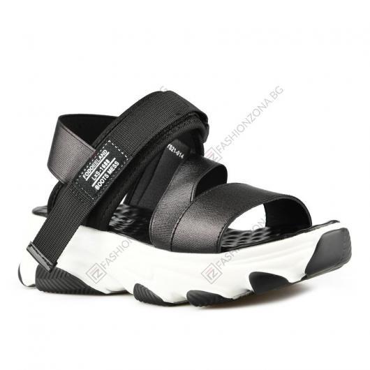 Черни дамски ежедневни сандали Franciszka