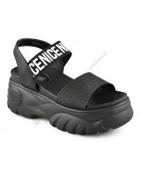 Черни дамски ежедневни сандали Subira