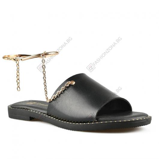 Черни дамски ежедневни чехли Febe