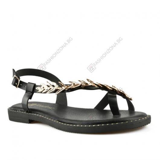 Черни дамски ежедневни сандали Elvina
