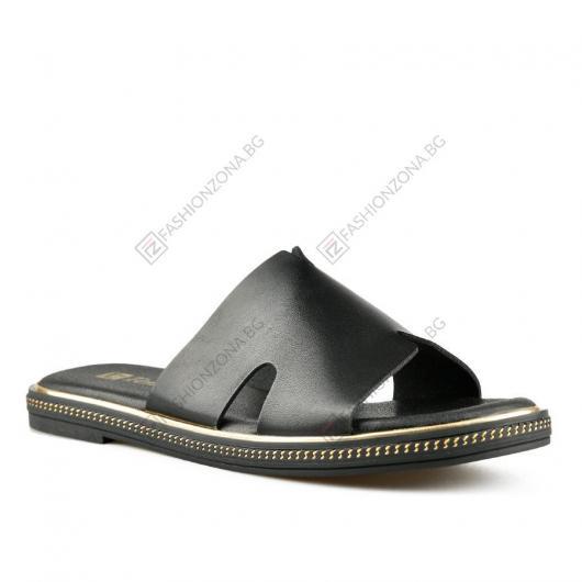 Черни дамски ежедневни чехли Kelila