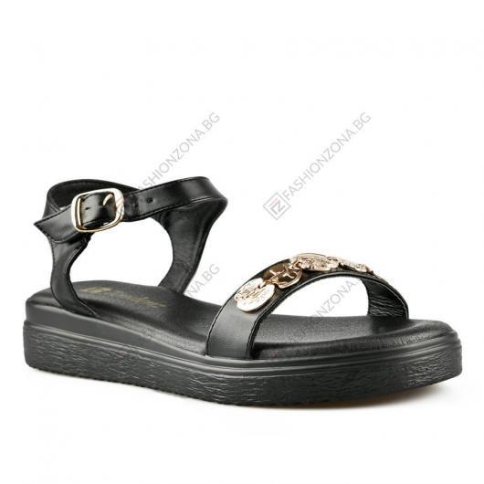 Черни дамски ежедневни сандали Slaine