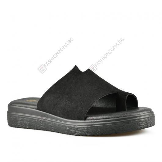 Черни дамски ежедневни чехли Jolana