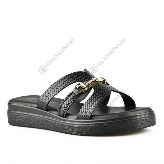 Черни дамски ежедневни чехли Tanika